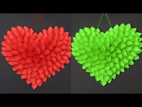 DIY - Paper Heart Showpiece || Room Decoration Idea || Best out of Waste