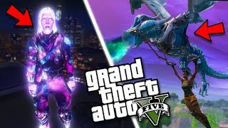 THE FORTNITE GLIDER MOD w/ GALAXY SKIN MOD (GTA 5 Mods Gameplay)