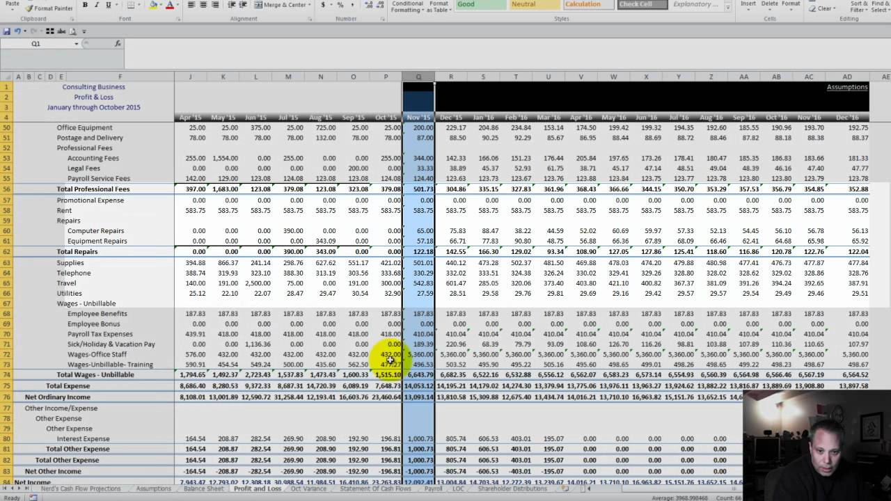 cash flow analysis nerds cash flow projections for small business youtube