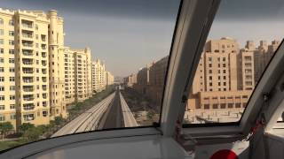 Dubai Palm Jumeirah Monorail(Atlantis Aquaventure station→Gateway station)