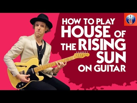 how to play house of the rising sun on guitar animals song lesson youtube. Black Bedroom Furniture Sets. Home Design Ideas