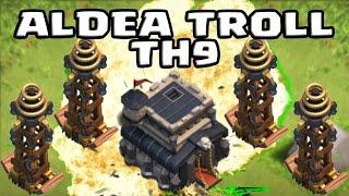 Best Th 9 Aldea Troll Trophy Pushing Base | Subida de copas | Campeones | aldea #3 |