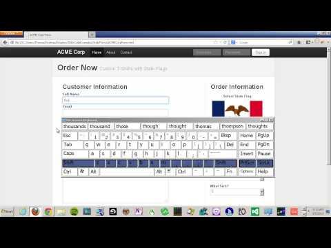 Web Accessibility 101: On-Screen Keyboard Demo