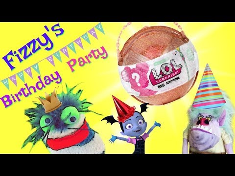 Fizzy's Birthday Party LOL Big Surprise   Vampirina Shopkins