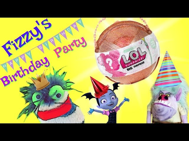 Fizzys Birthday Party LOL Big Surprise   Vampirina Shopkins