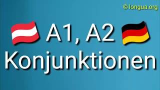 A1, A2, B1 Deutsche Konjunktionen für Anfänger und Fortgeschrittene - Deutsch lernen - Learn German