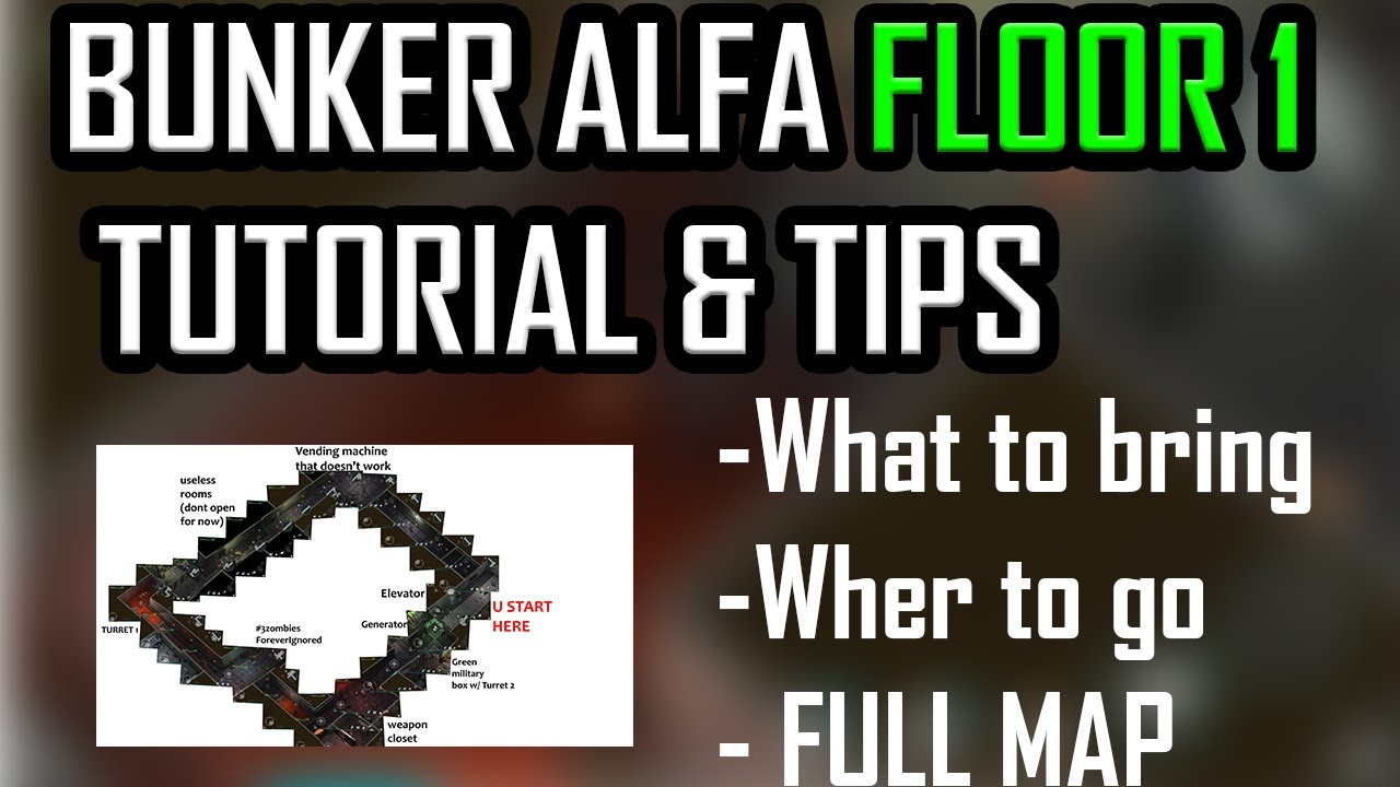 BUNKER ALFA Floor 2 FULL TUTORIAL + MAP & what to bring (Last day