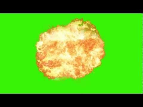 Explosion croma key green screen