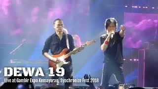 DEWA 19 ft Once - Air Mata | Live at Kemayoran Synchronize 2018