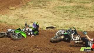 MX Crash Video: Sky High MX Swap Out and 2 Kids One Rut