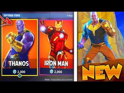 New Thanos Skin Free In Fortnite New Fortnite Thanos Game Mode