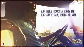 Raees Ki Dialogue Baazi   Shah Rukh Khan, Nawazuddin Siddiqui   Releasing 25 January