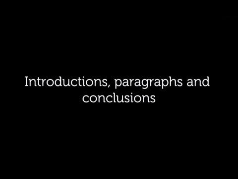 Introductions, Paragraphs, Conclusions