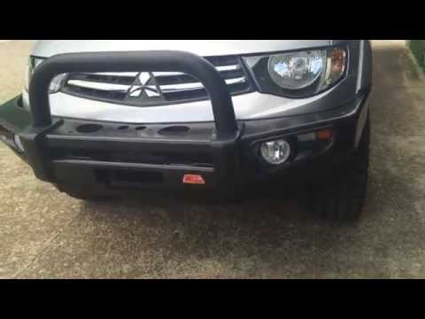 mitsubishi triton bull bar fitting instructions