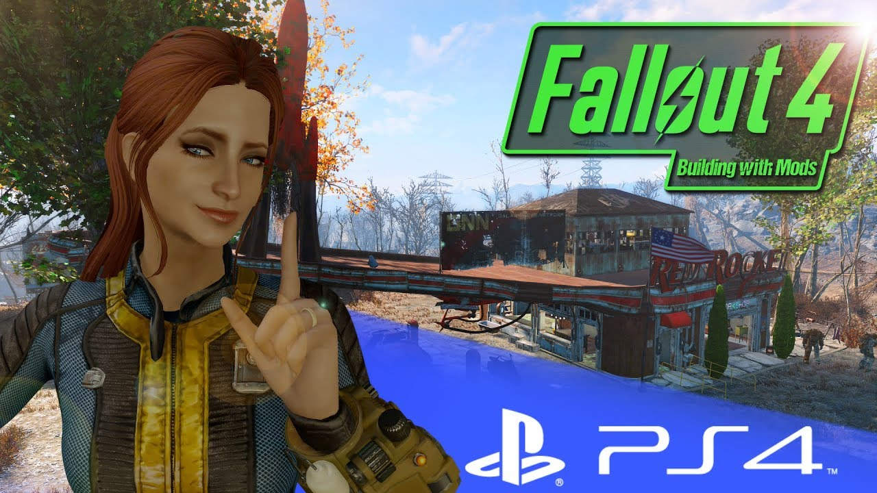 PC MODDER TRIES PS4 MODS! - FALLOUT 4 BUILDING WITH MODS PS4! - RR BASE OF  OPERATIONS!