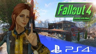 PC MODDER TRIES PS4 MODS - FALLOUT 4 BUILDING WITH MODS PS4 - RR BASE OF OPERATIONS