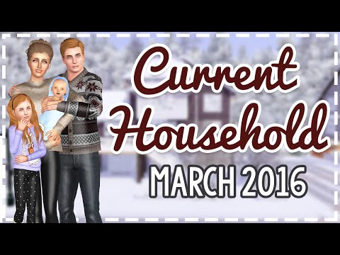 The Sims 3 Current Household: The Cooper Family (March 2016)