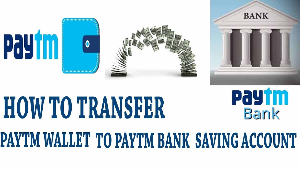 How to transfer from PAYTM Wallet to PAYTM Bank Savings account ...