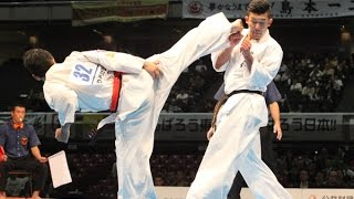 The 46th ALL JAPAN KARATE TOURNAMENT Men 3rd round Seiru Wada vs Ka...