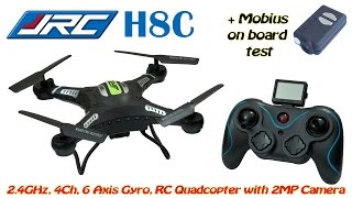 JJRC H8C 2.4GHz, 4Ch, 6 Axis, RC Quadcopter with Headless Mode and 2MP Camera (RTF)