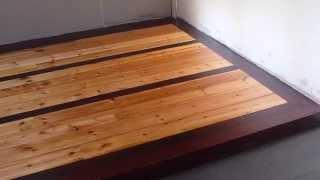 Man Cave Floor Board Install, Sand And Varnish. Part 9   Final Coat Of Varnish