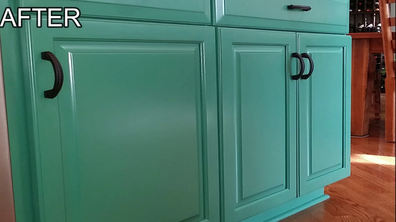 Oak Kitchen Cabinet Painting Youtube