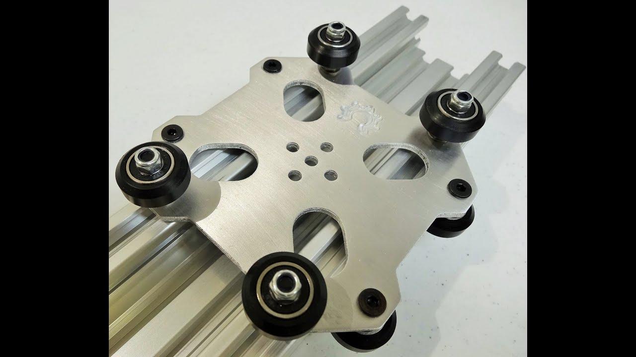 Openbuilds 174 C Beam Machine Aluminum Cut Example Youtube