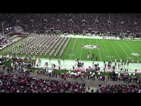 University of Alabama Million Dollar Band Pregame   Alabama vs Miss State 11/27/2012