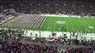 University of Alabama Million Dollar Band Pregame   Alabama vs Miss State 11/27/2012