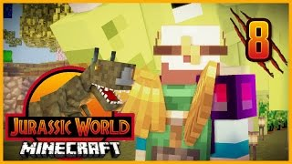 Minecraft Jurassic World - Episode 8 - TINKERS CONSTRUCT & TRAVELLER'S ITEMS!
