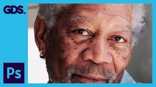 Smudge Painting Effect     Morgan Freeman     Adobe Photoshop Tutorial