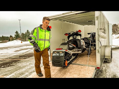WISCONSIN SNOWMOBILING TRIP! (RIDING NEW ARCTIC CAT) | SUNDAY FUNDAY!