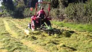 Siromer Single Rota Hay Rake being used for tedding grass