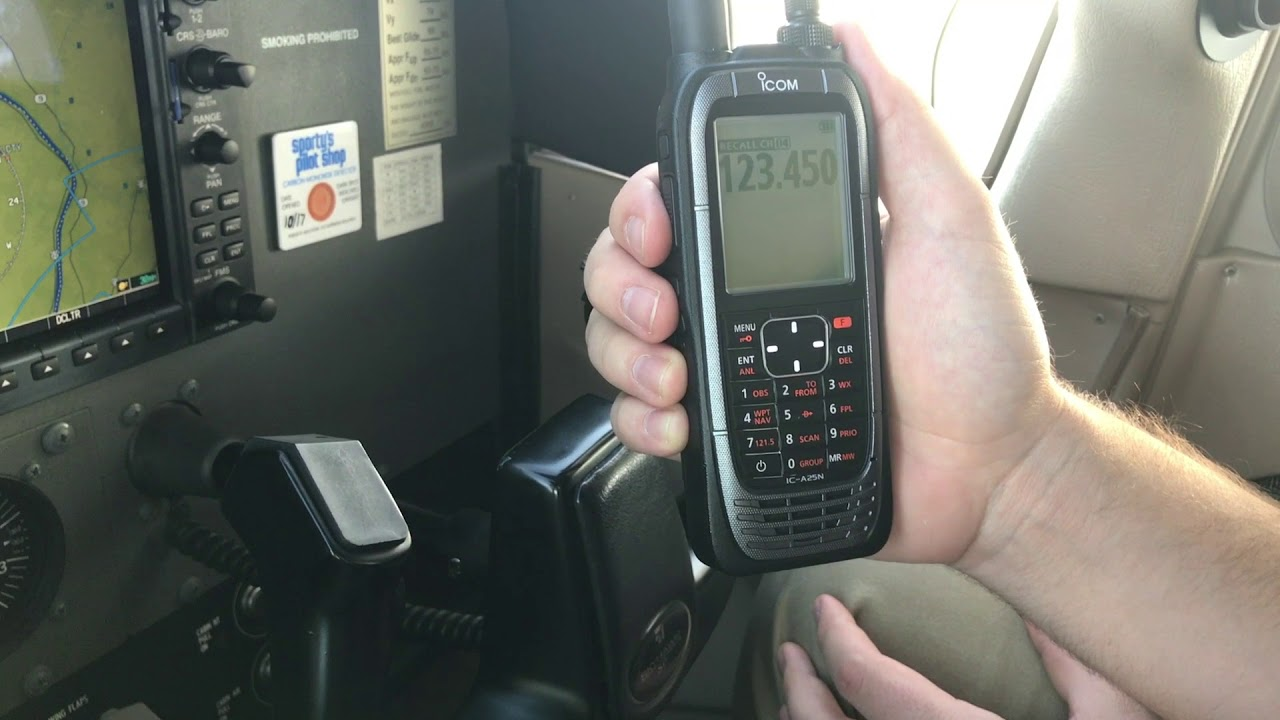 Icom A25 Aviation Radio - In-Flight PIREP