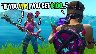 i'll give you $100 if you WIN this Fortnite game... (emotional)