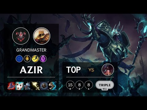 Azir Top vs Akali - EUW Grandmaster Patch 10.9