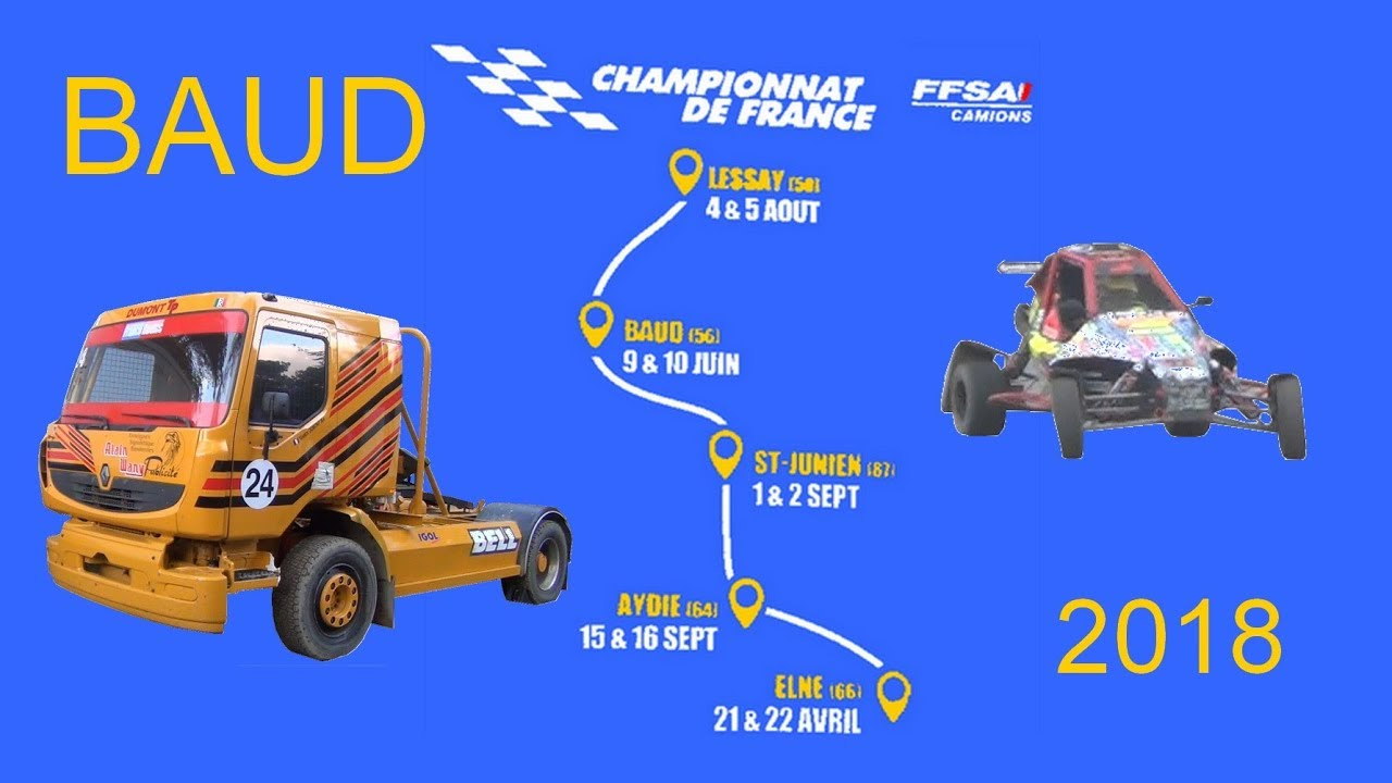 Calendrier Autocross Ouest 2020.Baud La Coupe De France De Camion Cross Et Sprint Car