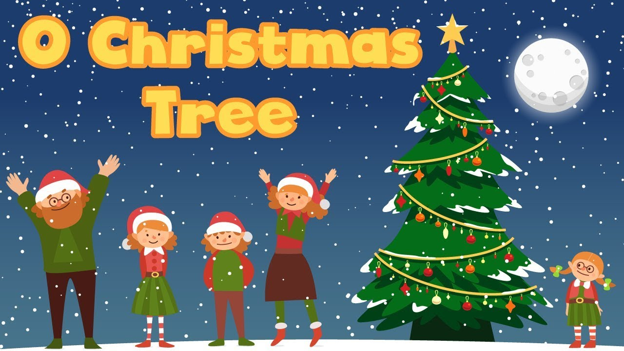 Oh Christmas Tree Carol Song for Children Xmas songs for kids babies family with Lyrics - YouTube