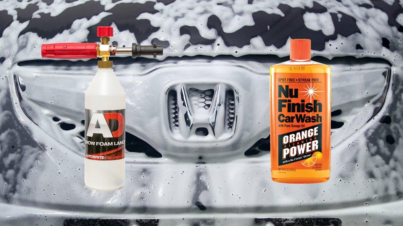 snow foam lance test nu finish car wash youtube. Black Bedroom Furniture Sets. Home Design Ideas