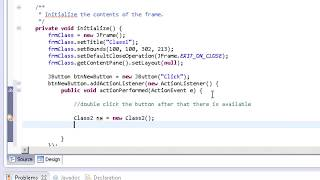 Java - Click Button And Open New Window - Eclipse