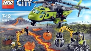 Lego City Volcano Supply Helicopter 60123 - Lego excavator LEGO Helicopter - Lego Speed Build