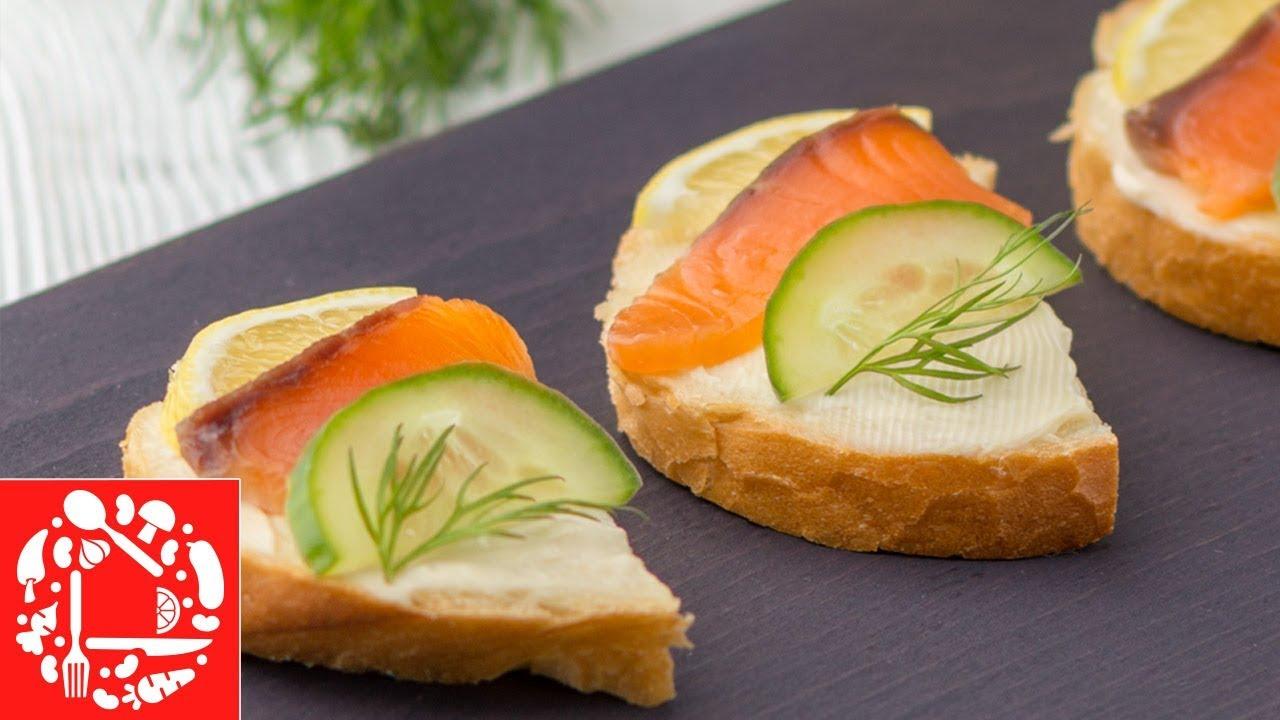 Никто не откажется от такой закуски! Быстрые бутерброды с красной рыбой на Праздничный стол!