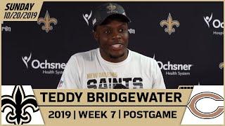 Teddy Bridgewater Postgame Reactions After Win vs Bears in Week 7 | New Orleans Saints Football