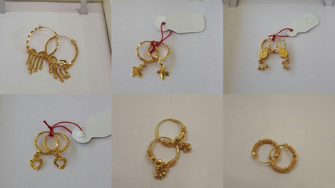 Light Weight Gold Hoop Earrings Designs