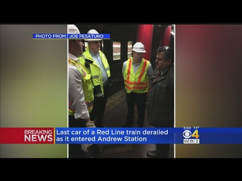 MBTA Car Derailment On Red Line Leaves Riders To Deal With Severe Delays