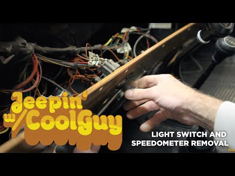 Jeep CJ7 Light Switch And Speedometer Removal