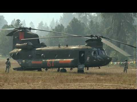 2012 Wenatchee Washington Wildfires. Helicopters & FireCrews Battle Flames in HD