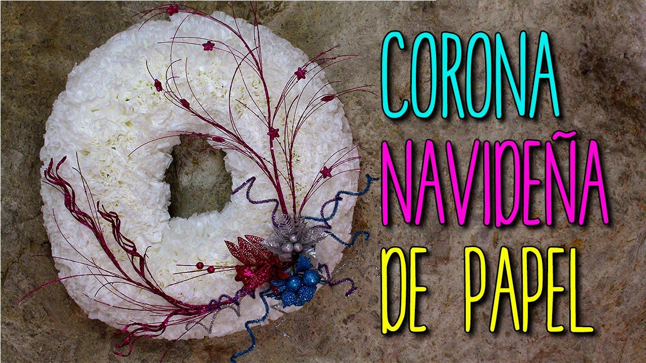Corona navide a reciclada de papel manualidades para - Adornos de navidad con material reciclado para ninos ...