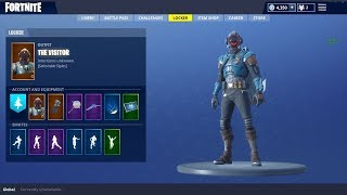 "FORTNITE BATTLE ROYALE | New ""Visitor"" Skin Showcased With 20+ Back Blings"