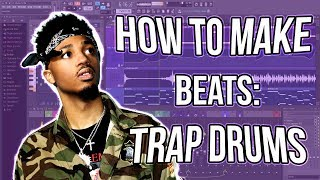 How to Make Trap Beats: Drums 🔥🥁 (FL Studio 12 Tutorial)